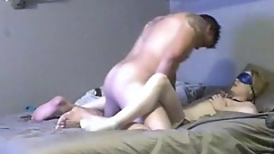 Large tittied amateur chick is having fine sex with boyfriend