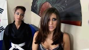 tenåring blowjob pornostjerne trekant