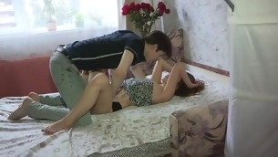 Beautys anal tunnel gets a lusty hammering session from stud