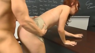 rødhårete tenåring blowjob doggystyle