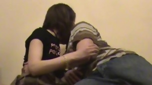 Stud chokes his filthy whore, during the time become absent-minded hammering her in the room